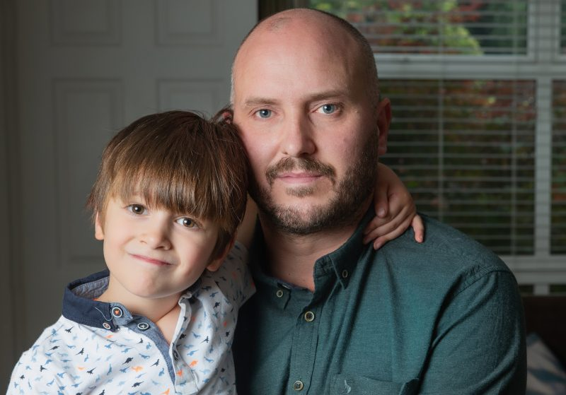 Steve Bland and son Freddie (c) Paul Cooper